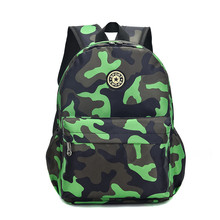 New Kids Backpacks Cartoon Camouflage Printed School Bags fo