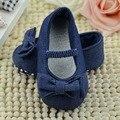 Doce bebê recém-nascido meninas Kids First Walkers Shoes princesa Bowknot macio Sole anti-derrapante calçado Flats 2016 novos sapatos da moda