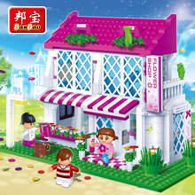 [small particles] girl birthday gift buoubuou puzzle toy bricks children toy flower country 6102
