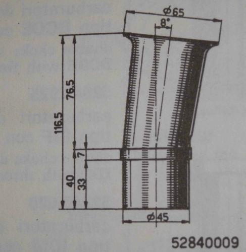 Velocity Stack air horn ram pipe trumpet slide in for WEBER 40 DCOE