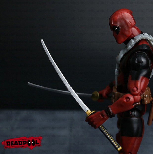Deadpool Action Figure Red Color 6 inches Classic Edition 2