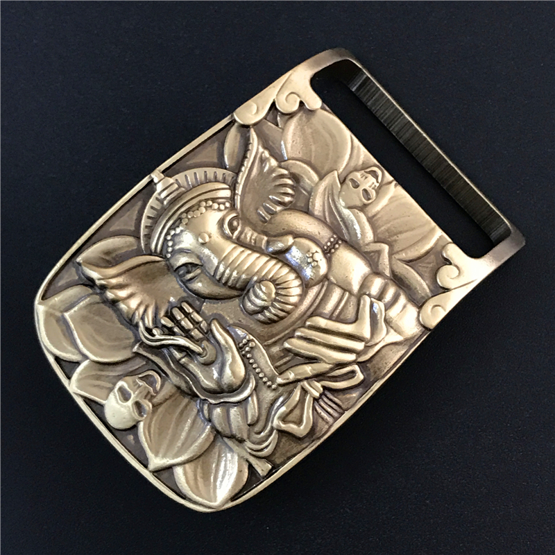 Solid Brass Elephant Belt Buckle Cowboy Jeans Belt Diy Accessories TOP Quality Mens Belts Luxury Punk Buckle Male Strap BK0072