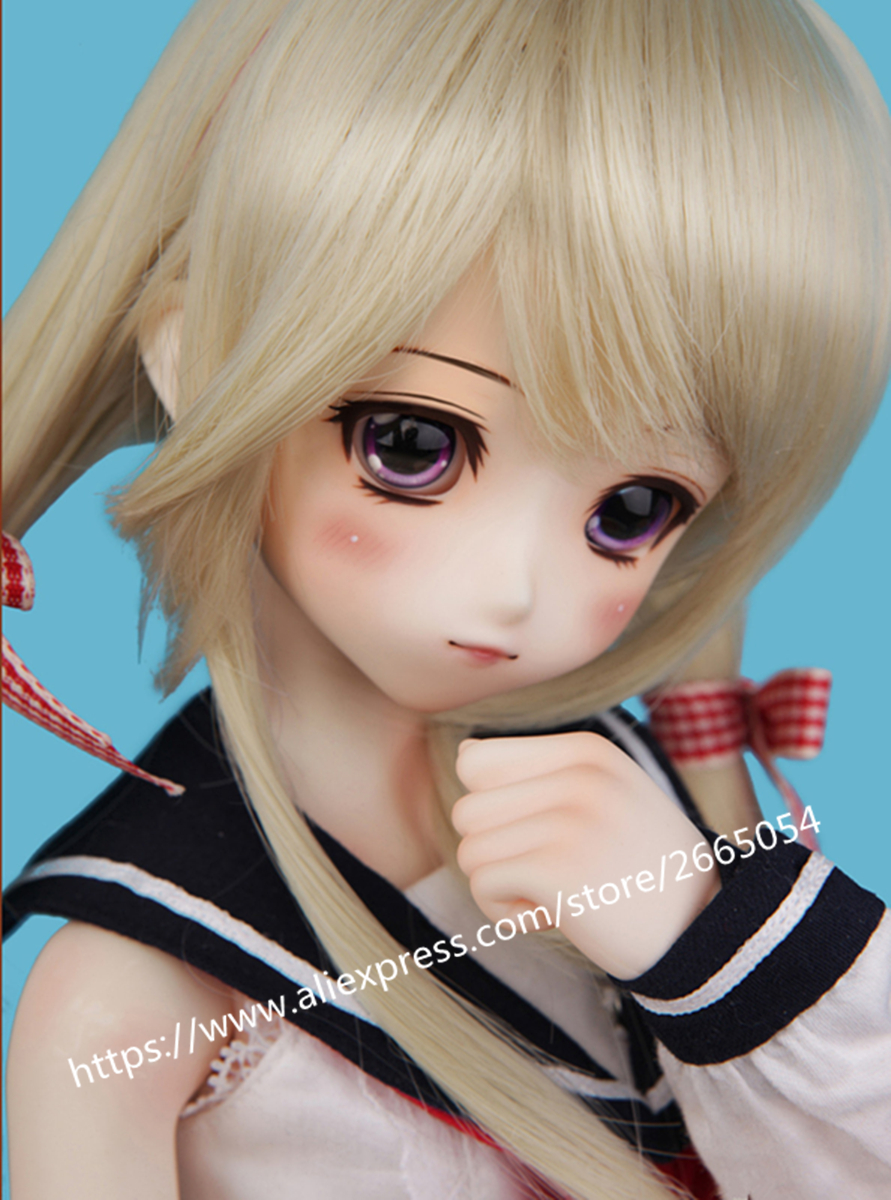 AQK BJD/ SD doll kid Delf girl coconut palm DD the play with 1/4 dolls NO makeup +The spot Free eyes delf a2 livre cd