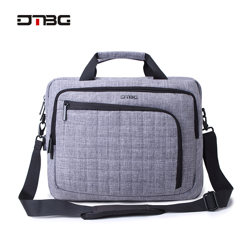 DTBG Laptop Smart Briefcase Black Gray 15.6 Computer Plaid Handbag Men Women Business Suitcase Messenger Fashion Office Bags