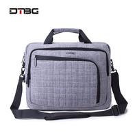 DTBG Laptop Smart Briefcase Black Gray 15.6 Computer Plaid Handbag Men Women Business Suitcase Messenger Fashion Office Bags