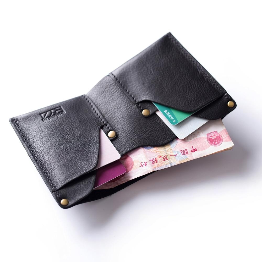Gathersun Small Wallet Mens Bi-fold Full Korn Läder Kreditkort - Plånböcker - Foto 3
