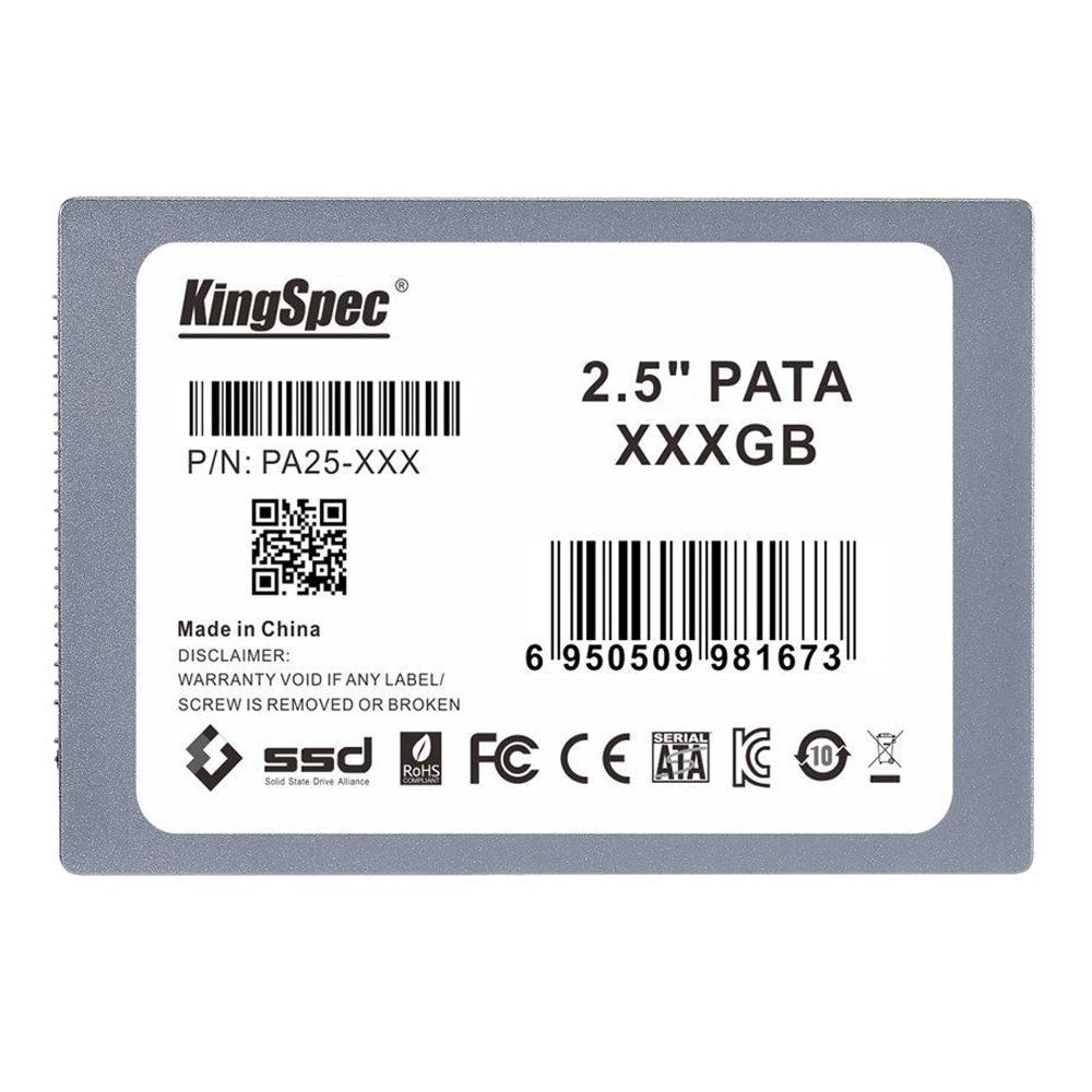 KingSpec 128GB 2.5-inch PATA/IDE SSD Solid State Disk (MLC Flash) SM2236 Controller Gray original mmcre28gfmxp mmcre28gfmxp mvb slim 128gb usata mlc micro sata 1 8 ssd solid state disk test good free shipping