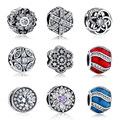 Authentic 100% 925 Sterling Silver Inverno New Original Charme Fit Pandora Bracelet DIY Contas Fazer Jóias para Presente de Natal