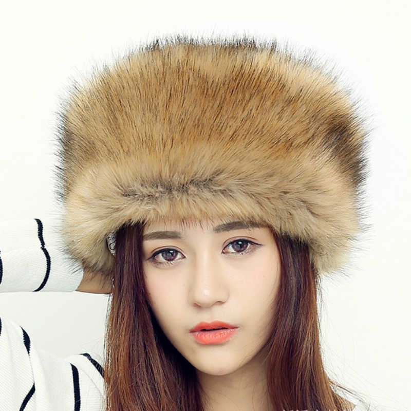 822644caaf3 HT552 Women Men RACCOON Fur Cap Hats Fashion Warm Russian Fur Hats for  Winter Luxury Female
