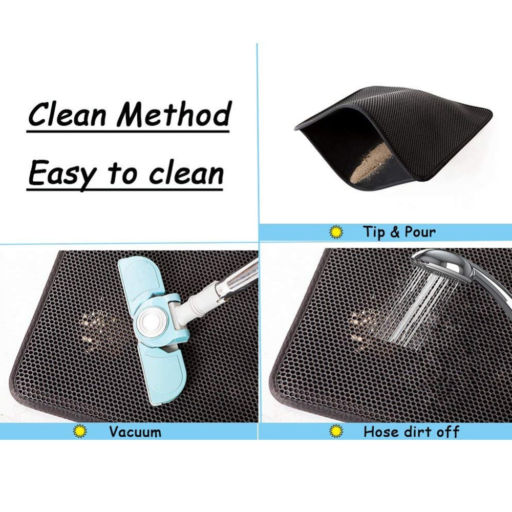 Waterproof Pet Cat Litter Mat Eva Double Layer Cat Litter Trapping Pet Litter Cat Mat Clean Pet Products For Cats Accessories (4)
