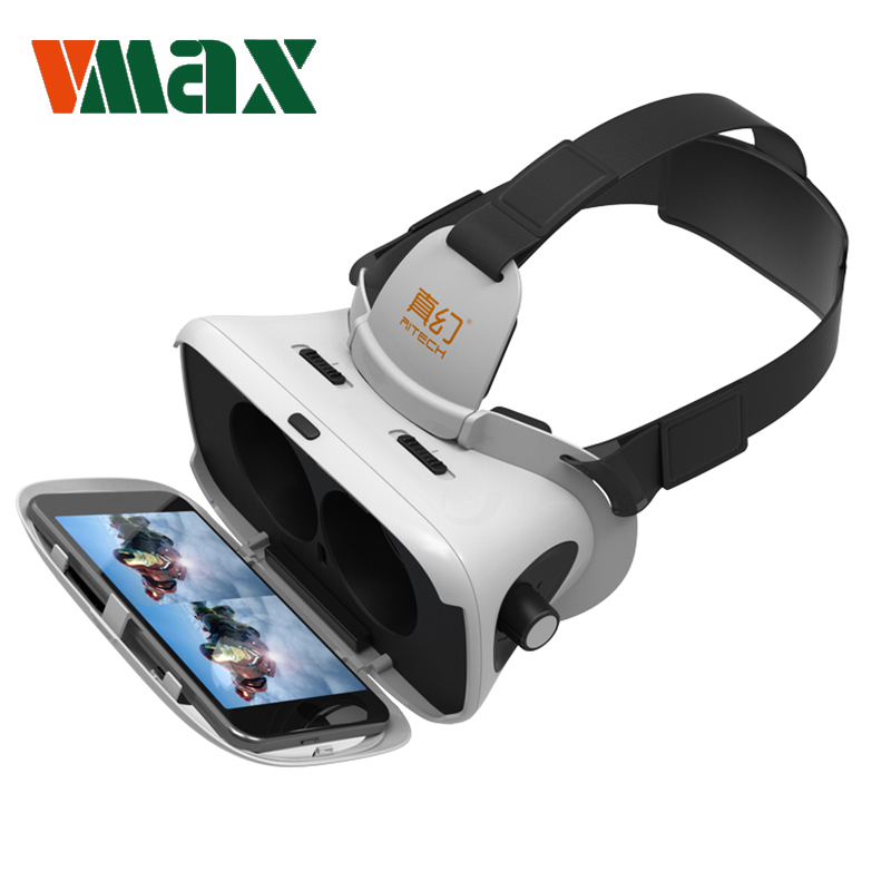 "RITECH VMAX 3D VR Glasses Virtual Reality Glasses Immersive Headset VR BOX for 4.7-6.0 "" Android IOS Smartphones"