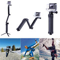 Tripod Monopod For Gopro Hero 5 4 3 3-Way Fold Arm Palo Selfie Stick Tripe For Xiaomi Yi 4K Go Pro  Sj4000 Camera Accessories