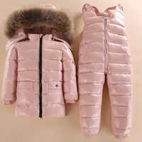Nouveau Style enfants doudoune bébé vêtements de ski d'hiver garçons et filles infantile veste d'hiver bébé garçon Parka neige ensemble chaud