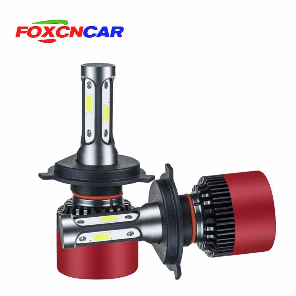 Foxcncar H7 COB Car LED Headlight Bulbs H4 Hi Lo Beam H11 H1 H3 9005 9006