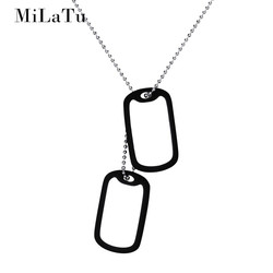 Milatu personalized engrave words army tags stainless steel dog tag id pendant necklace diy men jewelry.jpg 250x250