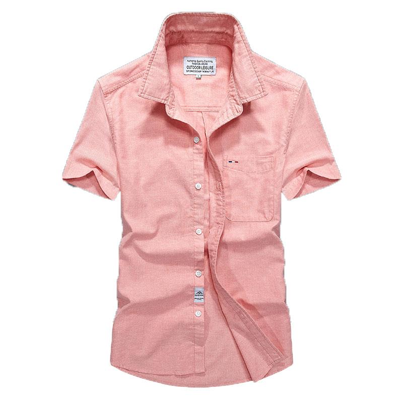 Shorts Shirts Mens Slim Summer Over Size Cotton Casual Shirts Clothing Brand-clothes Square Collar Men Shorts Shirts Solid Hot