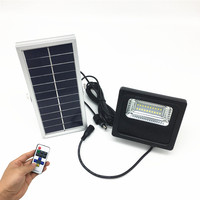 Solar Security Light 20 LED Outdoor Flood Light Waterproof IP65 with Remote Control Security Lighting for Yard, Garden, Gutter