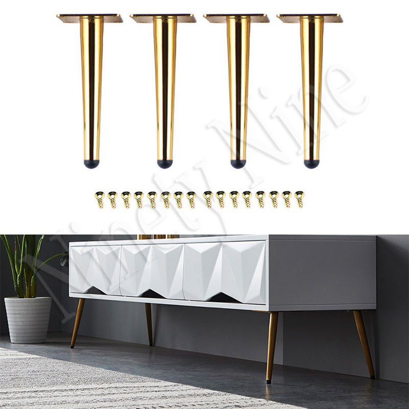4PCS Furniture Legs Sofa Legs 20CM Furniture Feet Replacement Legs With Leg  For Sofa Cabinet Couch Ottoman Coffee Table Bench