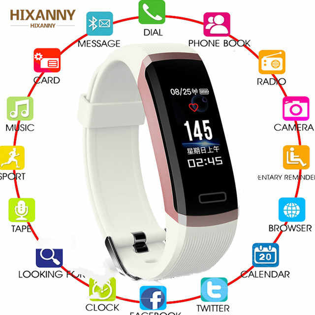 Smart Armband GT101 Farbe Heart Rate Monitor Fitness Tracker Bluetooth Smart Band Schwarz Männer Frauen kinder für iPhone Huawei