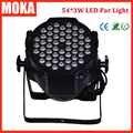 1 Stks 54*3 W LED par licht dmx aluminium LED par kan DMX 512 led par 64 licht stadium effect verlichting disco bar night club verlichting