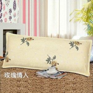 Image 3 - すべての綿の枕ケース、ダブル枕ケース、1.2m1。5メートル、肥厚ツイル印刷綿クリップ、カップルのカップル枕ケース