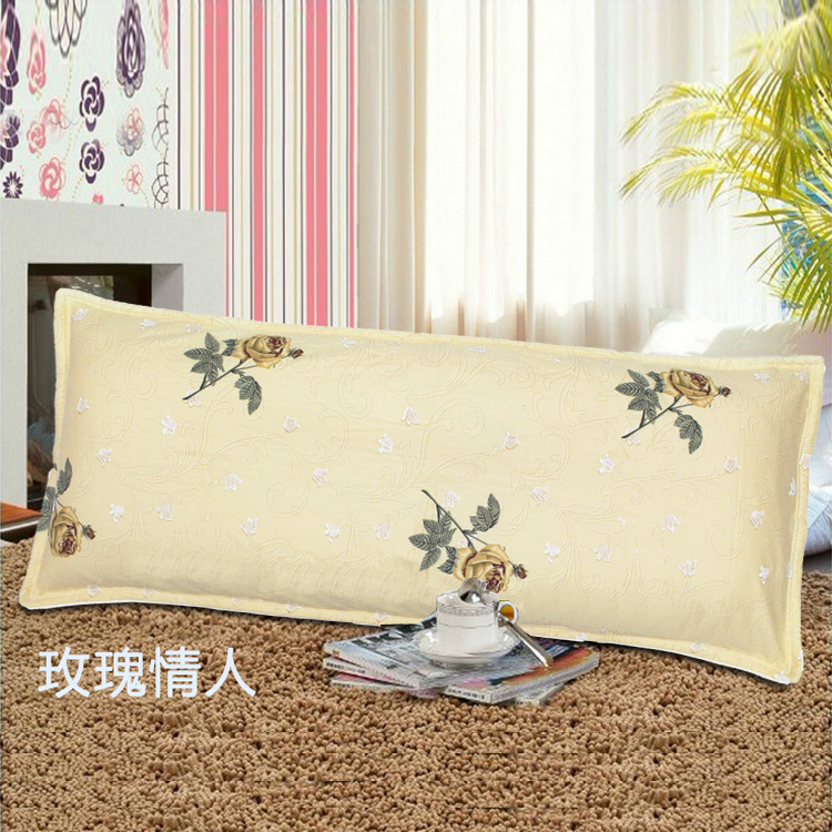 Image 3 - All cotton long pillowcase, double pillowcase, 1.2m1.5 meter, thickened twill print cotton clip, couple couple pillow case-in Storage Bags from Home & Garden