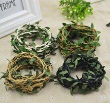 200 cm/lot flores artificiais videira natal para casa decoração do casamento acessórios de noiva apuramento falso floristics diy grinalda presentes