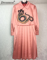 High Quality Floral Dresses Womens Dresses Vintage Runway Dress Women Summer Dress