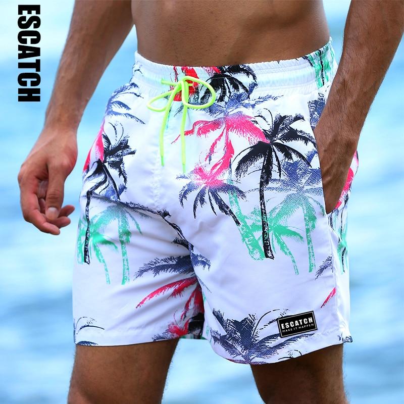 Escatch Neue Schnell Trocknend Sommer Herren Druck Strand Board Shorts Surf Siwmwear Bermudas Schwimmen Für Männer Athletisch Herren Gym Shorts