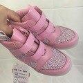 2016 Resorte zapatos de los muchachos de LA PU zapatillas luz led zapatos de las muchachas led luz zapatos de los niños zapatillas de deporte zapatillas de deporte los niños zapatos resplandor led USB