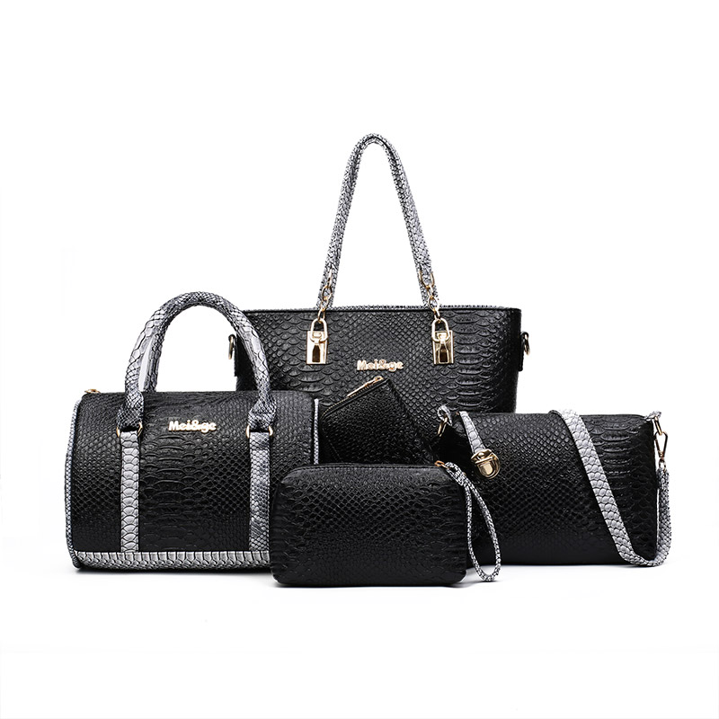 2018 Fashion Women 5pcs/sets Composite Handbag Girls Large Capacity Bag Female Totes Bag Shoulder Crossbody Bag Casual Purse miesati luxury 3 sets handbag women composite bag female large capacity tote bag fashion shoulder crossbody bag small purse