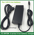 12.6V3A/12.6V 3A intelligence  lithium li-ion battery charger  for  3Series 12V  lithium polymer battery  pack good quality