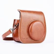 Leather Camera Strap Shoulder Bag Case Cover Pouch Protector for Polaroid Photo Camera for Fuji Fujifilm Instax Mini 8