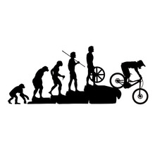 22.8*9.5CM Interesting Mountain Bike Downhill Car Stickers Covering The Body Cartoon Vinyl Decals Black/Sliver C7-1327(China)
