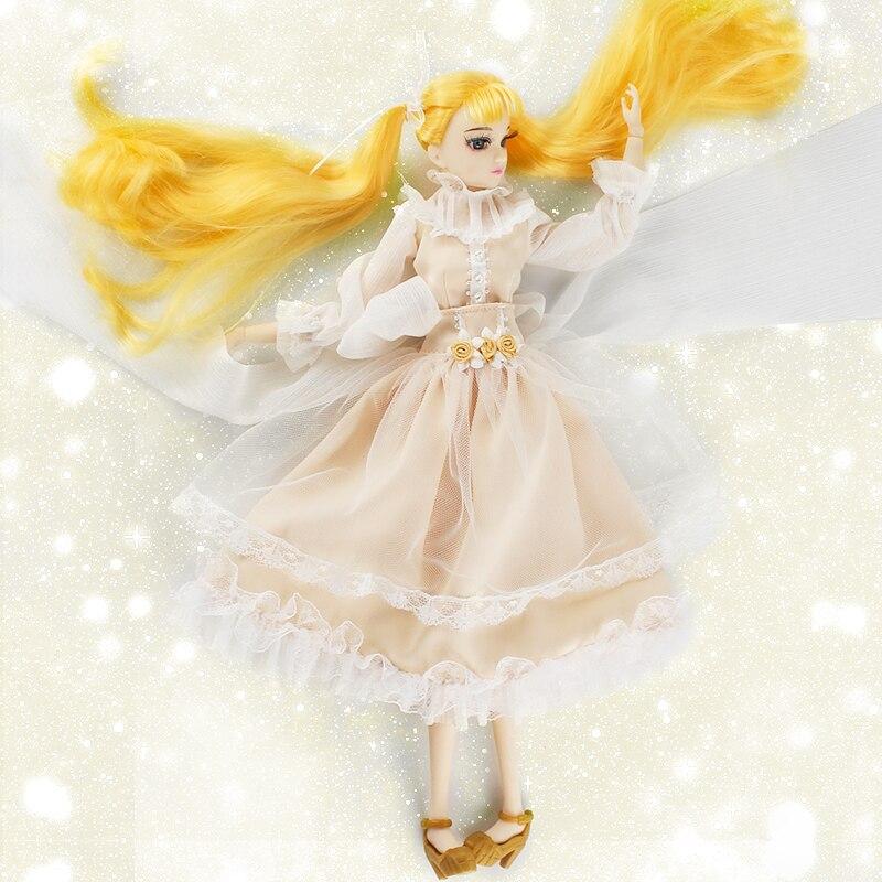 все цены на Fortune Days MM Girl like BJD Blyth Doll Huo Yu Jia with makeup Reborn girls 14 Joint body 35CM height High Quality gift toys онлайн