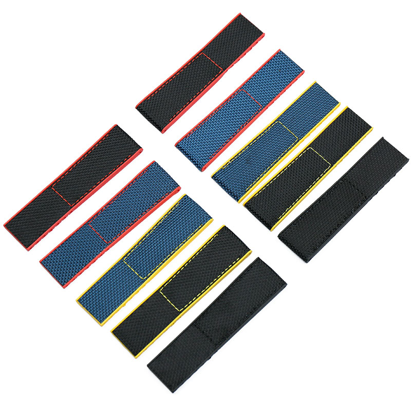 Nylon strap men 22mm24mm watch accessories for NAVITIMER WORLD Breitling strap Avengers navigation with waterproof rubber strap in Watchbands from Watches