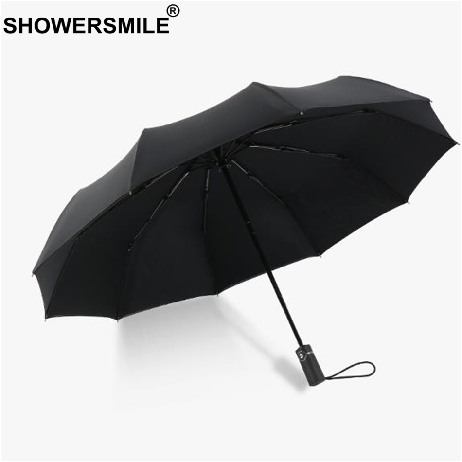 SHOWERSMILE Windproof Umbrella Folding Fully Automatic Sunny And Rainy Umbrella Double Layer Men Women Business Pongee Umbrellas in Umbrellas from Home Garden
