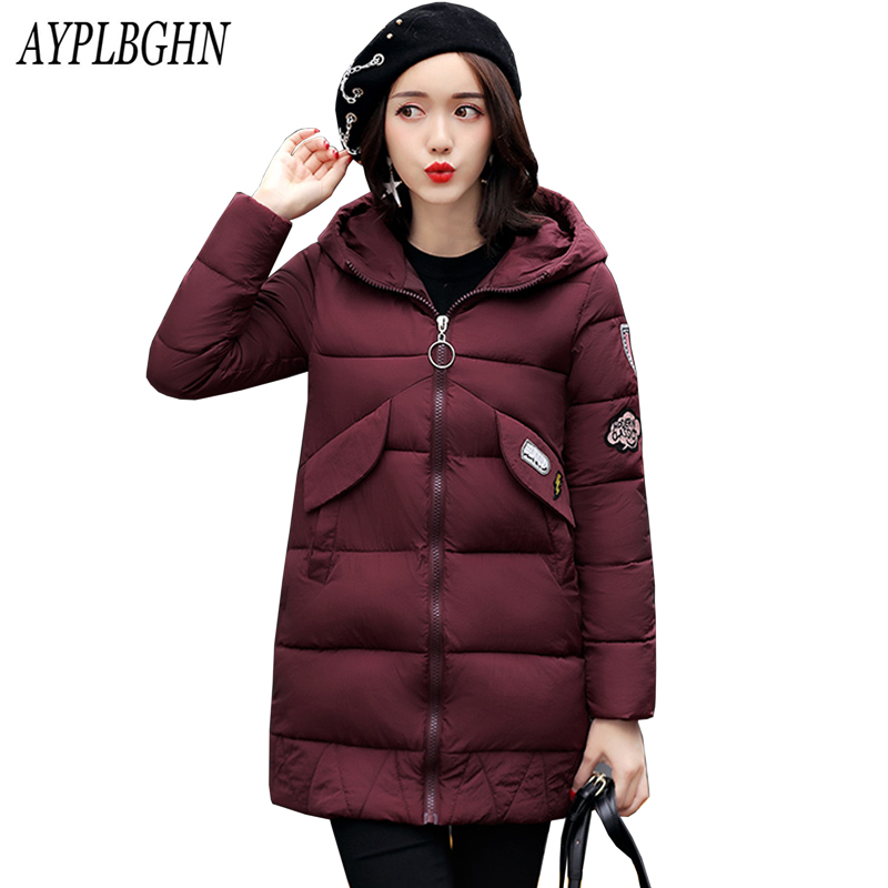 Warm Winter Jackets Women Fashion Cotton Parkas Casual Hooded Long Coat Thickening Parka Zipper Cotton Slim Outwear Plus size warm winter jackets women fashion cotton parkas casual hooded long coat thickening parka zipper cotton slim outwear plus size