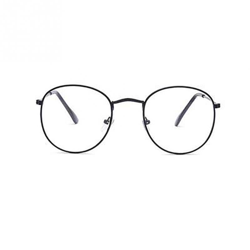 Glasses Women Frame Unisex Vintage-Style Fashion Gold Metal