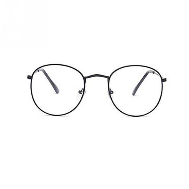 Unisex Fashion Classic Gold Metal Frame Glasses women men Classical vintage style optical Glasses