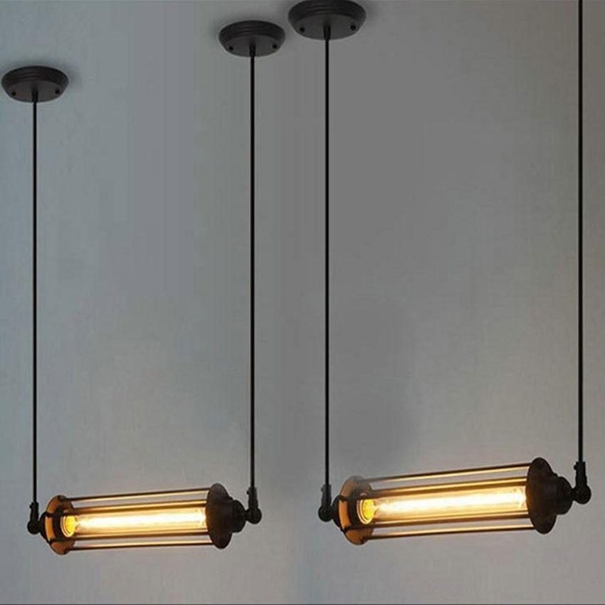 ФОТО American Loft Style Heavy Metal Punk Edison Pendant lamps Nordic Retro bar restaurant pendant lights for Industrial lighting