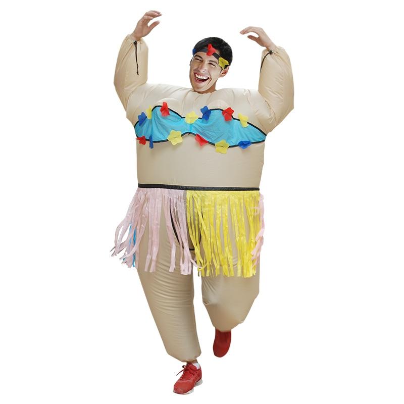 ღ ღInflable adulto danza hawaiana traje divertido juego Cosplay ...