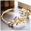 Oro de la vendimia barroca de la perla vinchas pelo de la boda accesorios de joyería nupcial de la perla tocados tiara 636