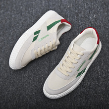 Men Shoes Canvas Casual Fashion Sneakers Spring/Autumn 2019 New Breathable Lace-up Low-up  Mixed Colors Mens Shoes High Quality