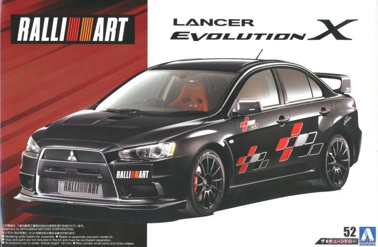 1/24 Assemble Car Rallyart Lancer Evolution X `07 05544
