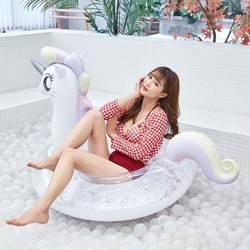 2019 новый гигант надувная Радуга Pegasus/лошадь бассейна с блеском внутри Единорог плавание кольцо воды надувной матрас