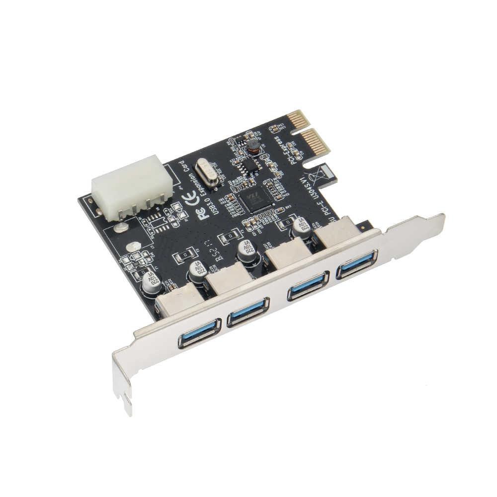 5 جيجابايت في الثانية 4 ميناء USB 3.0 PCI اكسبرس الكمبيوتر المضيف تحكم PCI-E 1X إلى 4 USB3.0 الناهض بطاقة محول ل سطح اللوحة