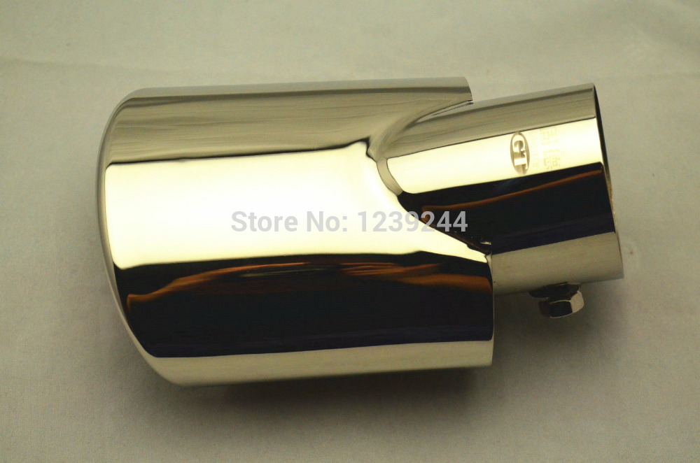 304 S.Steel EXHAUST MUFFLER CHROME TIP PIPE For Mazda3 2004-2013