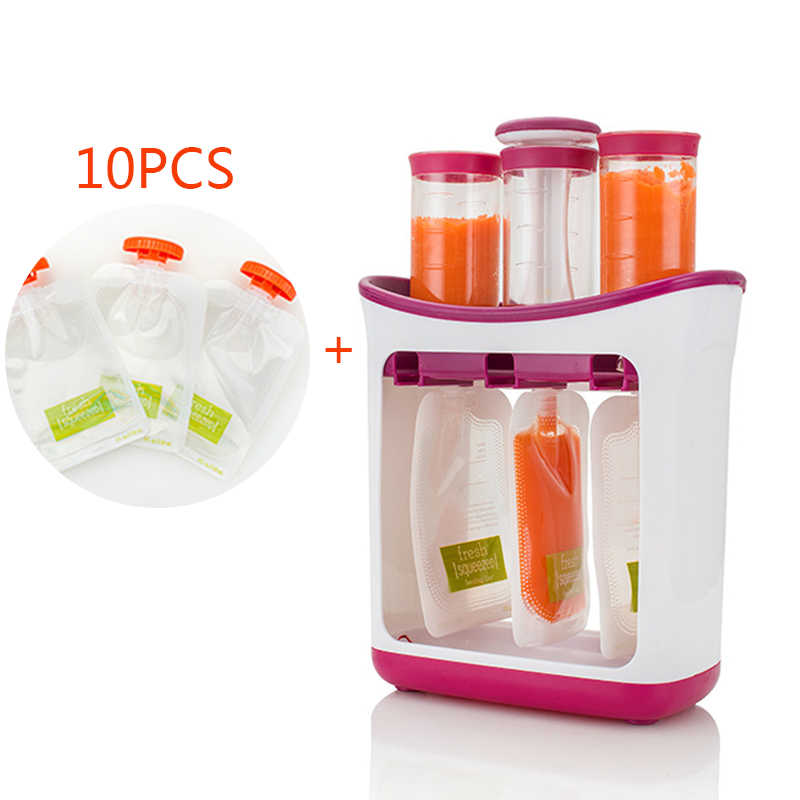 Squeeze Juice Station Baby Food Organization Storage Containers Baby Food Supplement Maker Set Kids Fruit Puree Packing Machine