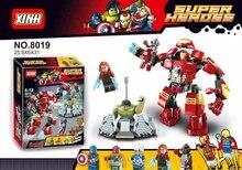 XH Super Heroes Avengers Building Blocks Ultron Minifigures Iron Man Hulk Buster Bricks Action Mini Figures Compatible